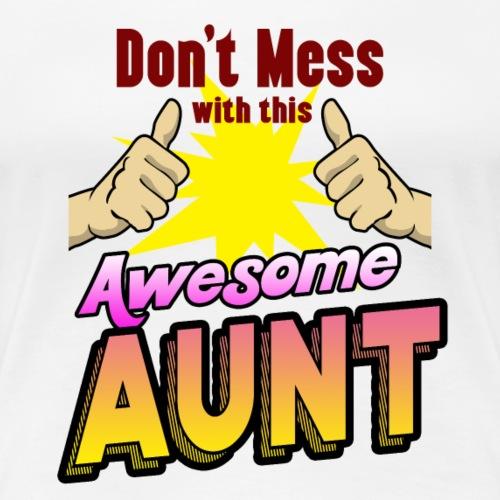 Geschenk beste Tante Onkel Mutter Vater Schwester - Frauen Premium T-Shirt