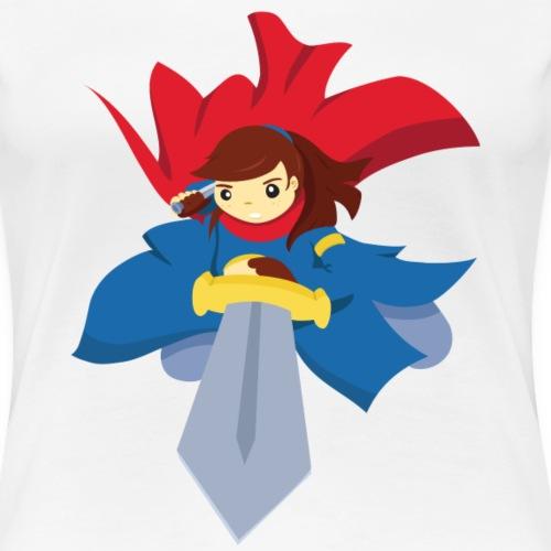 Combattante à l'épée - T-shirt Premium Femme