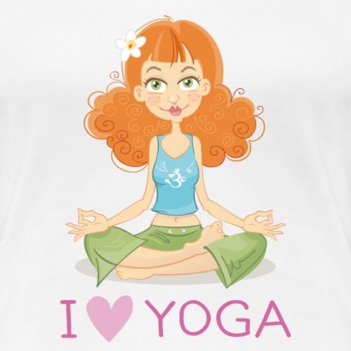 Yoga Lotus Pose Cartoon Girl