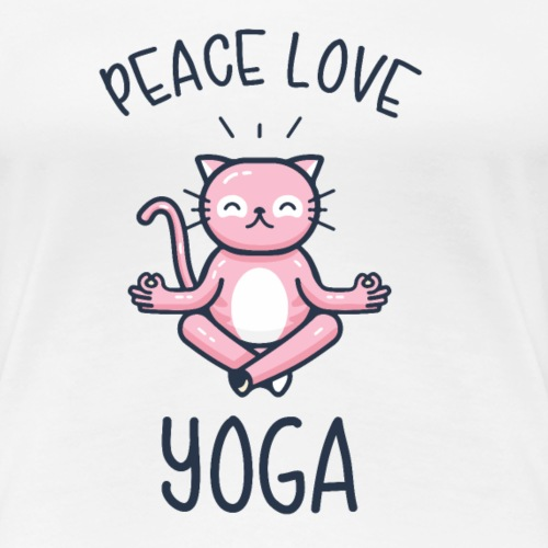Peace Love Yoga - Frauen Premium T-Shirt