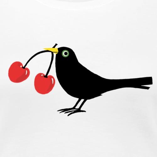 Vogel - Kirschen - Frauen Premium T-Shirt