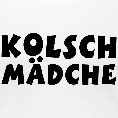 Kölsch Mädche - Ein Mädchen aus Köln - Frauen Premium T-Shirt