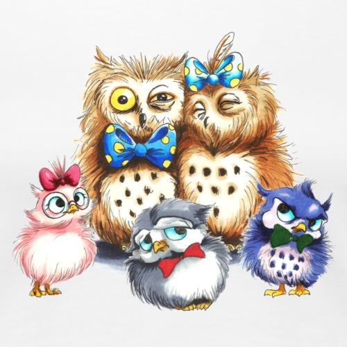 Owl family - Who(w)le family - Frauen Premium T-Shirt