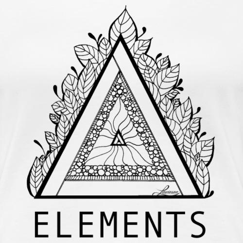 Elements Schwarz - Frauen Premium T-Shirt