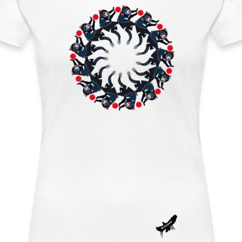 'Tasmanian Devil Mandala' by BlackenedMoonArts - Dame premium T-shirt