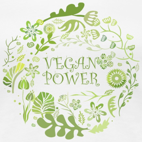 Vegan power rund - Frauen Premium T-Shirt