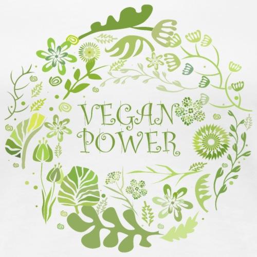 Vegan power rund - Frauen Premium T-Shirt