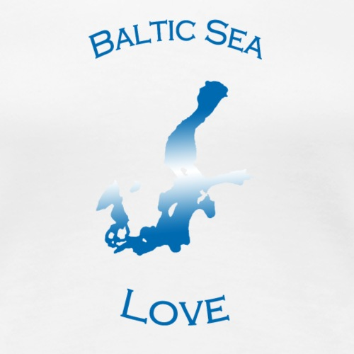 BalticSea Love blue white - Frauen Premium T-Shirt