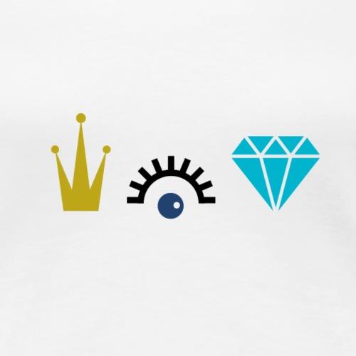 Krone Diamanten - Frauen Premium T-Shirt