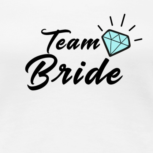 Team Bride Diamond - Frauen Premium T-Shirt