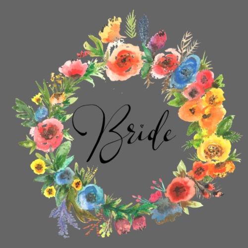 Team Bride BRAUT Flower n°1 - Frauen Premium T-Shirt