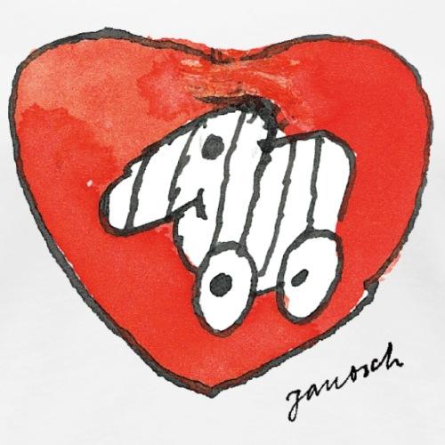Janosch Tigerente Großes Rotes Herz - Frauen Premium T-Shirt