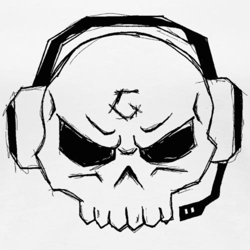 Gamer Skull Logo BLACK - Frauen Premium T-Shirt