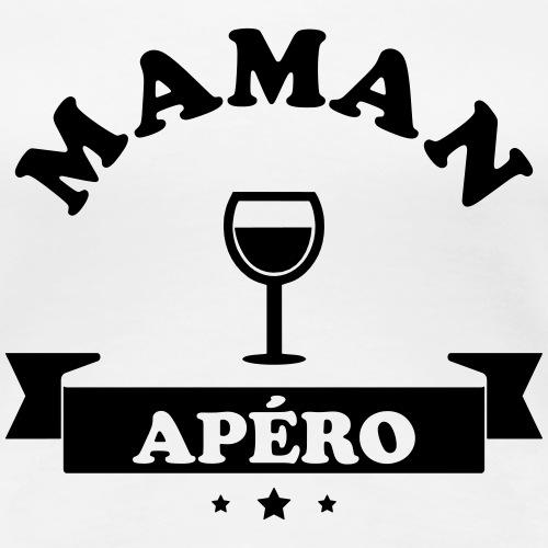 Maman Apéro - T-shirt Premium Femme