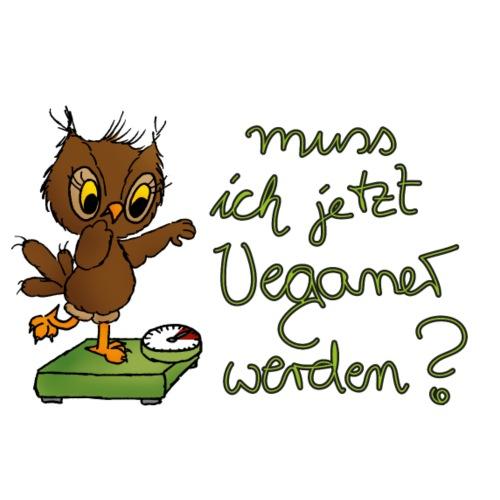 veggie Eule - Frauen Premium T-Shirt
