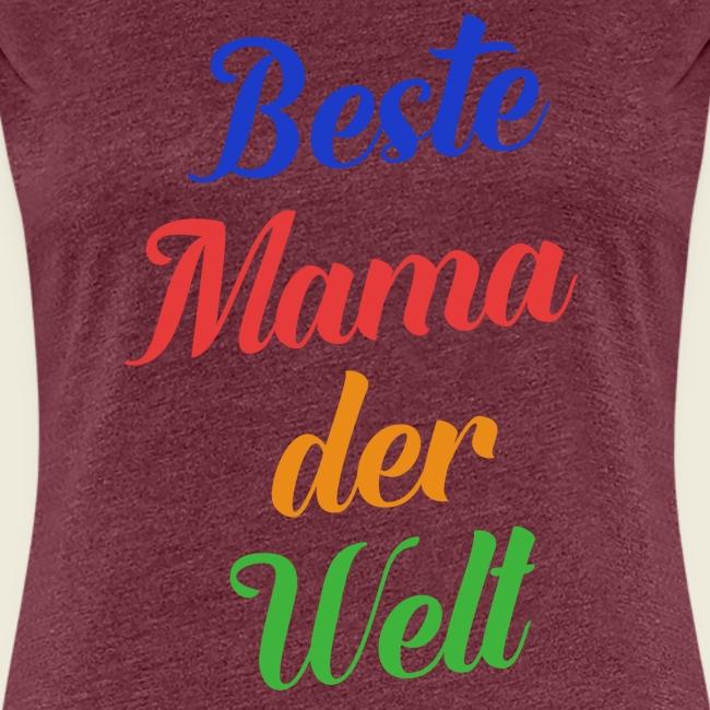 Beste Mama der Welt schön bunt