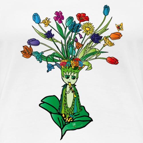 Blumenpracht - Frauen Premium T-Shirt