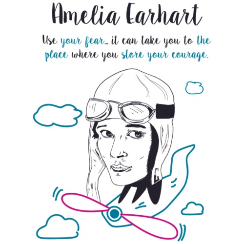 Amelia Earhart - Maglietta Premium da donna