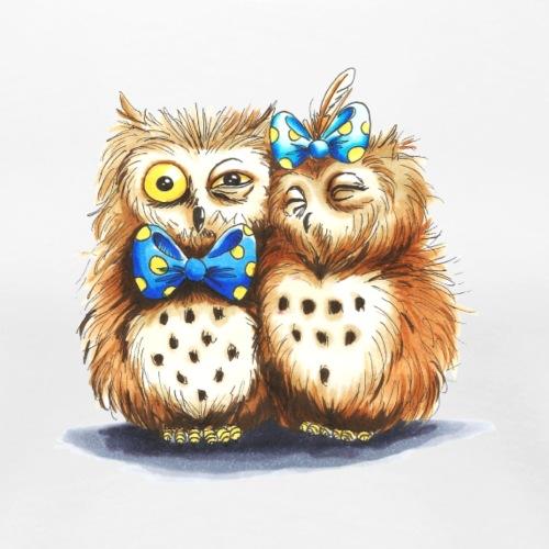 Owl Family - Helge und Helga in love - Frauen Premium T-Shirt