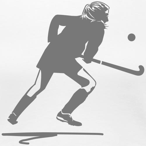 Speler van het Hockey - Vrouwen Premium T-shirt