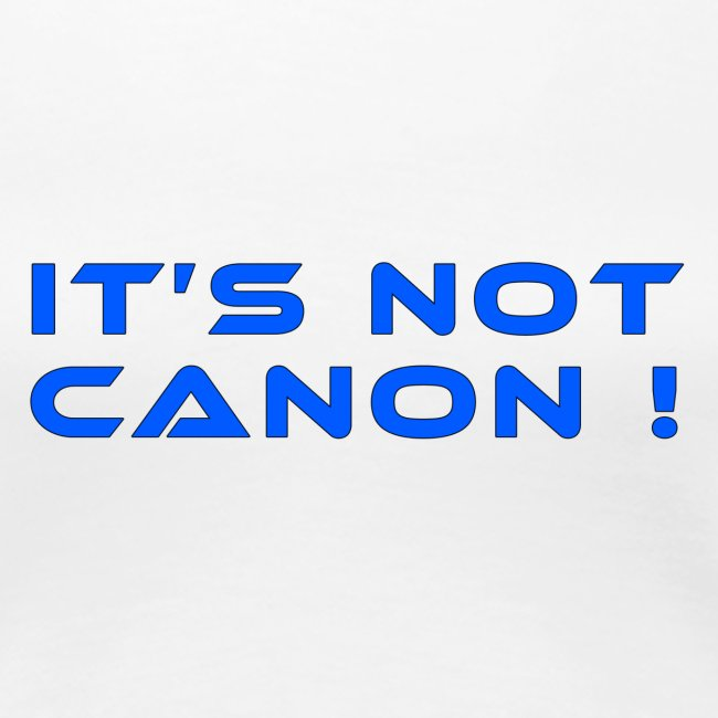 It's not canon!