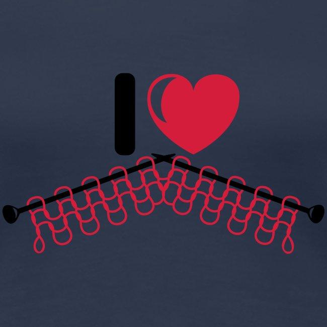 i love knitting red