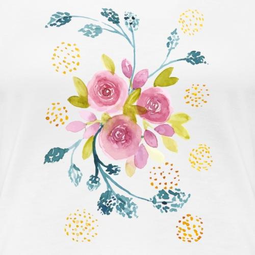 Nancy Rose Designs - Pink Roses - Women's Premium T-Shirt