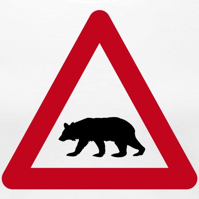 Beware of the bear sign