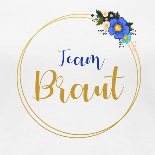 Team Braut Aufschrift goldener Kranz - Women's Premium T-Shirt
