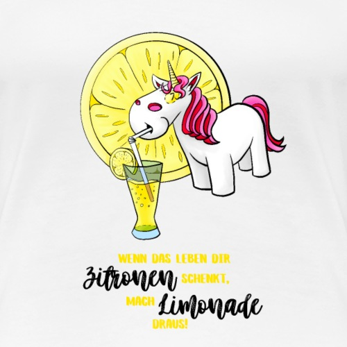 Wenn das Leben dir Zitronen schenkt - dunkel - Frauen Premium T-Shirt