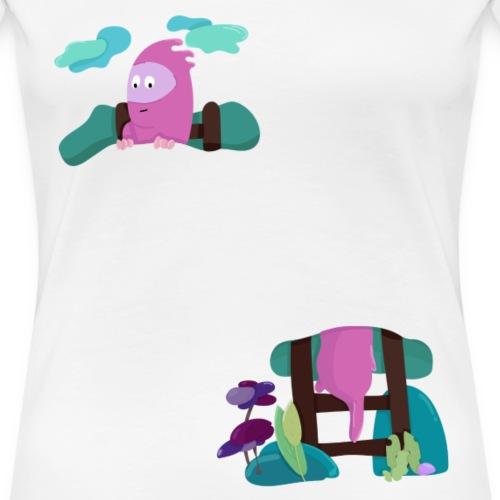 la tete dans les nuages - T-shirt Premium Femme