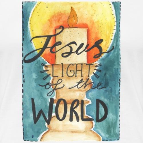 Jesus Light Of the World T-Shirt - Women's Premium T-Shirt