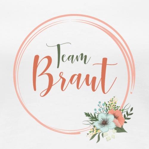 Team Braut - florales Motiv - Women's Premium T-Shirt