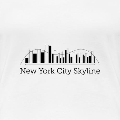 ny skyline - Dame premium T-shirt
