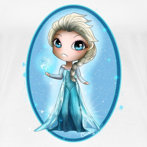 Elsa - Chibi Princess - T-shirt Premium Femme
