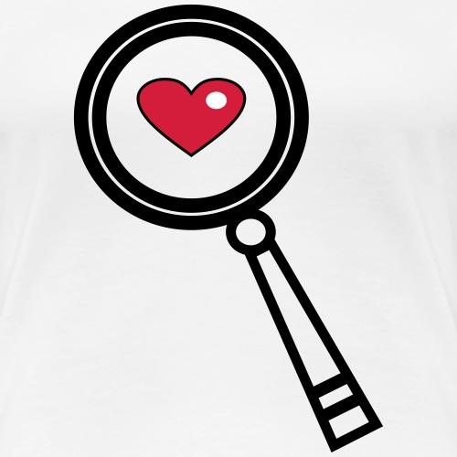 Finde mein Herz - Frauen Premium T-Shirt