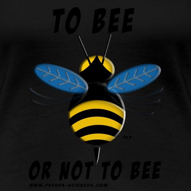 bee texte noir