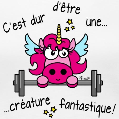 Licorne Muscu Créature Fantastique - T-shirt Premium Femme