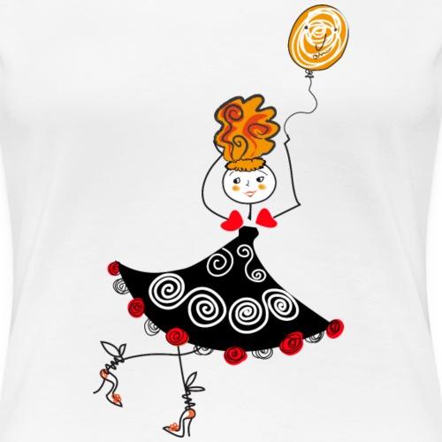 Ballerina con palloncino - Maglietta Premium da donna