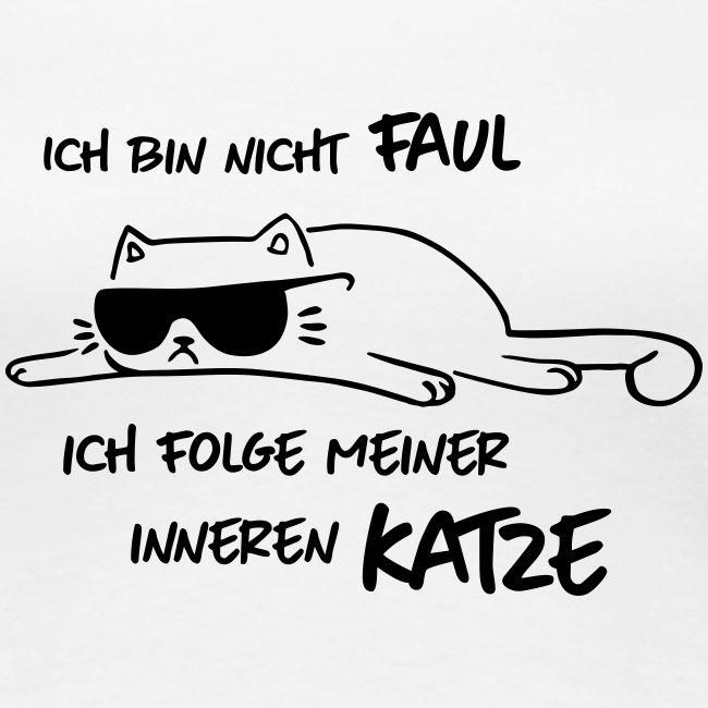 Vorschau: Faul inneren Katze - Frauen Premium T-Shirt