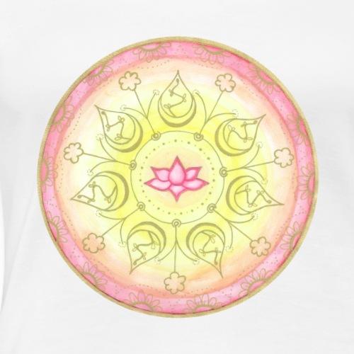Mandala Lotus Harmonie handgemalt - Frauen Premium T-Shirt
