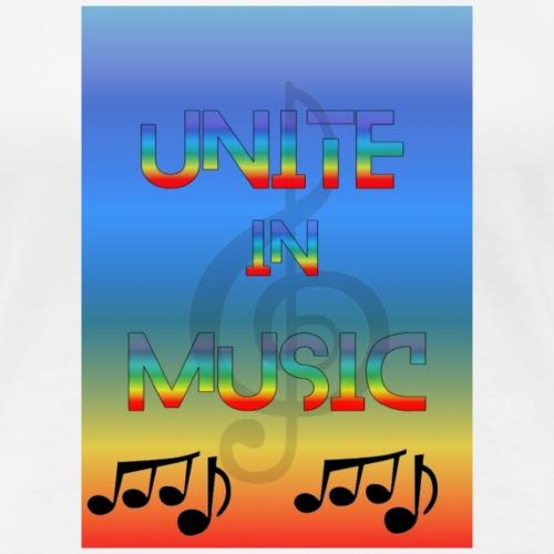 Unite in Music - Dame premium T-shirt