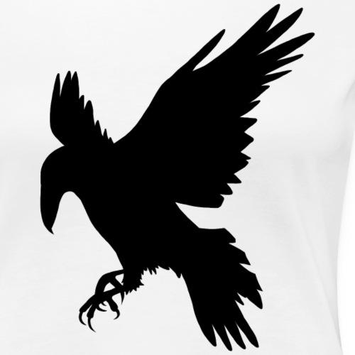 Svart ravn - Premium T-skjorte for kvinner