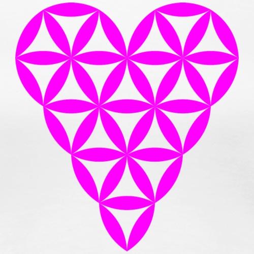 Heart of Life - Heart Symbol - Violet - Women's Premium T-Shirt