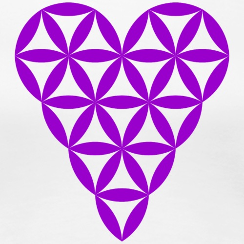 Heart of Life - Heart Symbol - Purple - Women's Premium T-Shirt