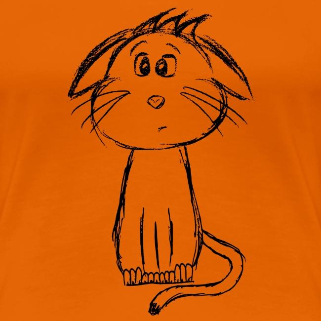 Kat kattunge sort scribblesirii