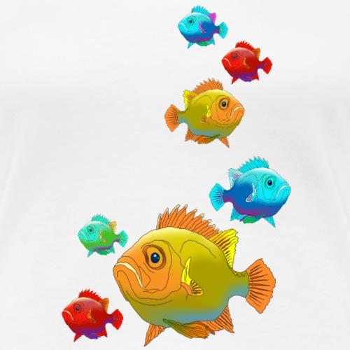 Fisch Barsch Ozean Meer Wasser Aquarium Angeln - Women's Premium T-Shirt