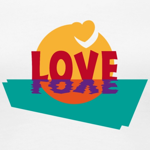 Love Liebe Herzen Valentinstag Glück Sommer Sonne - Women's Premium T-Shirt
