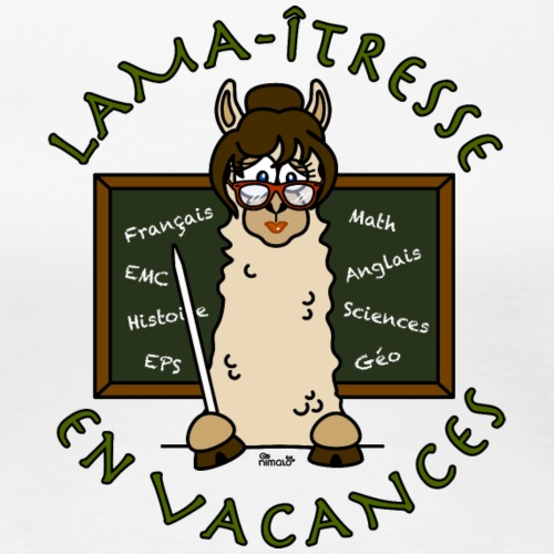Lama-îtresse, Maîtresse, cadeau, vacances - T-shirt Premium Femme