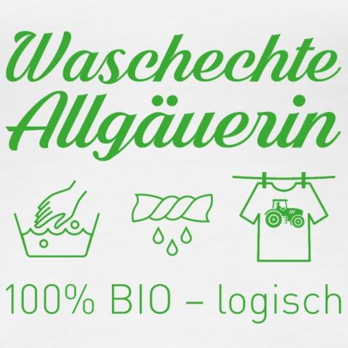 Waschechte Allgäuerin grün - Frauen Premium T-Shirt
